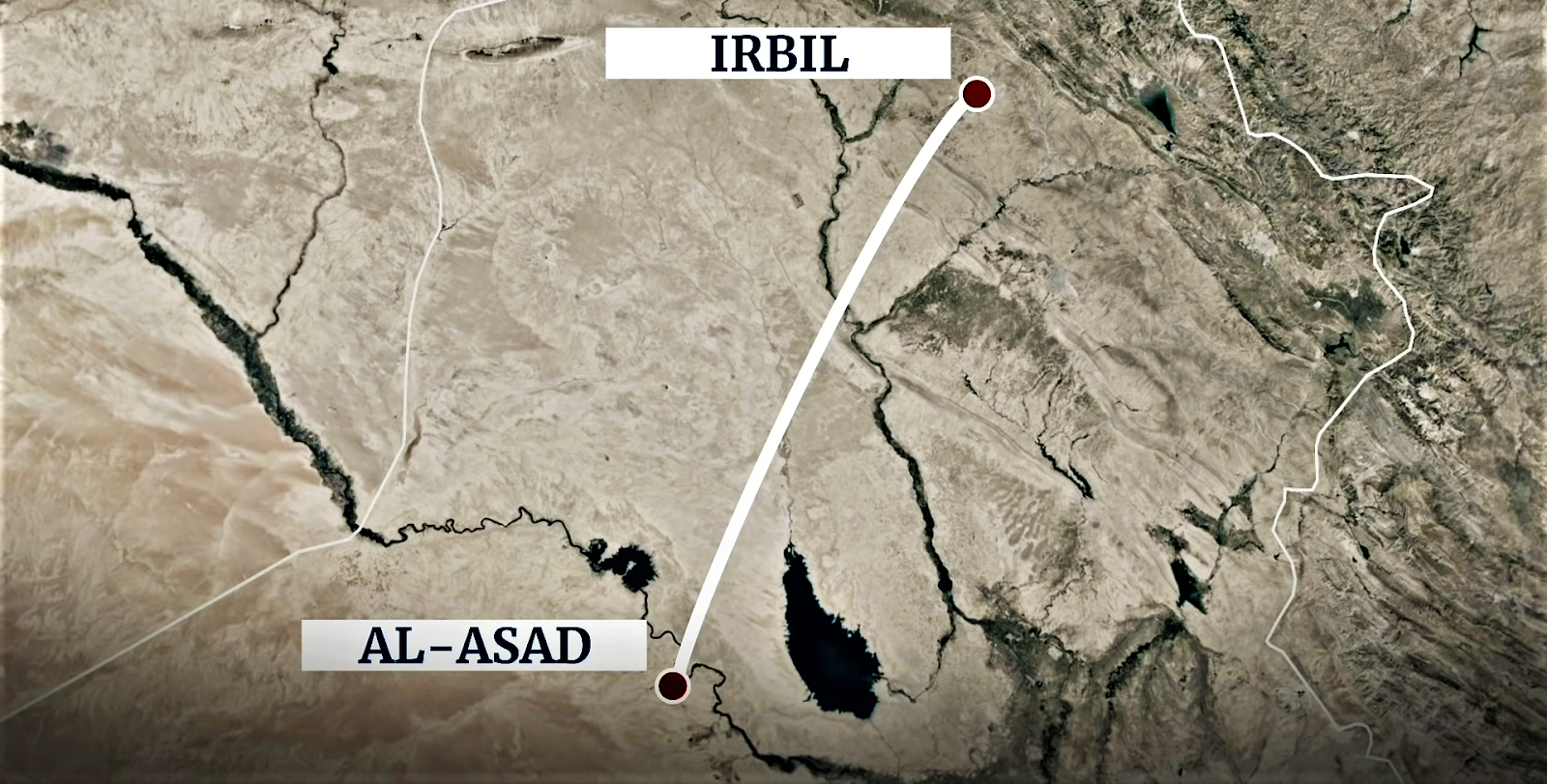 Iran fires missiles targeting US forces in Iraq.