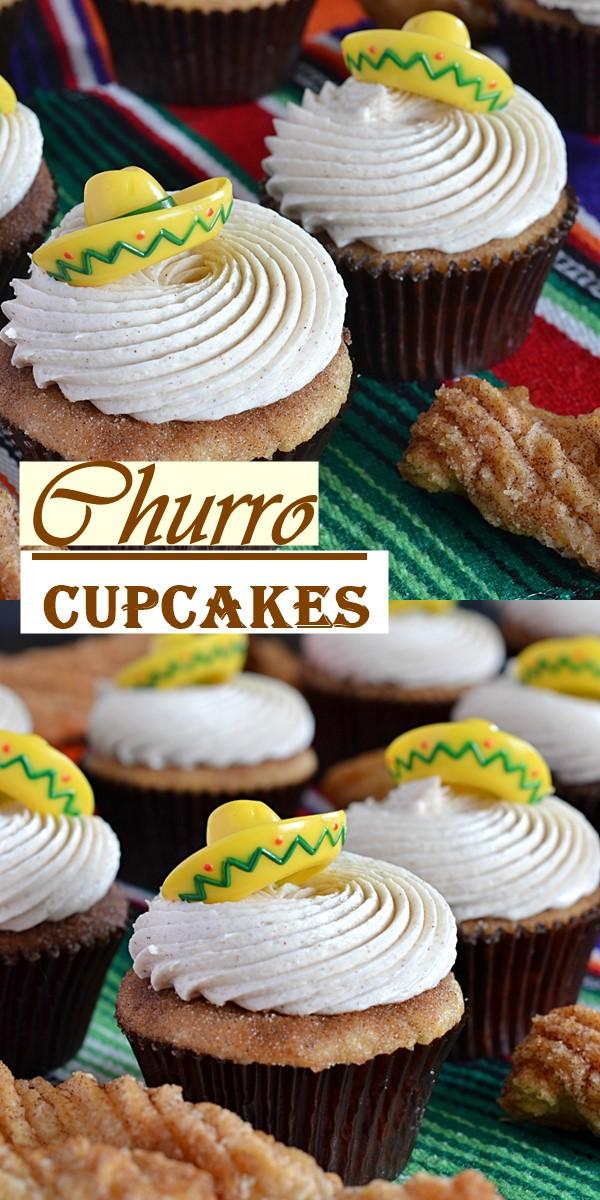Churro Cupcakes #Cupcakasrecipes