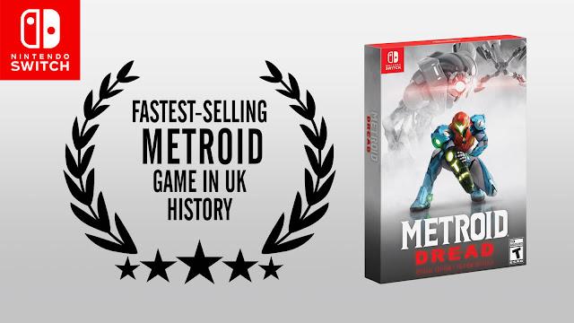metroid dread fastest selling chart box edition entry UK History 2021 action-adventure 2d side-scrolling game mercury steam nintendo switch samus aran