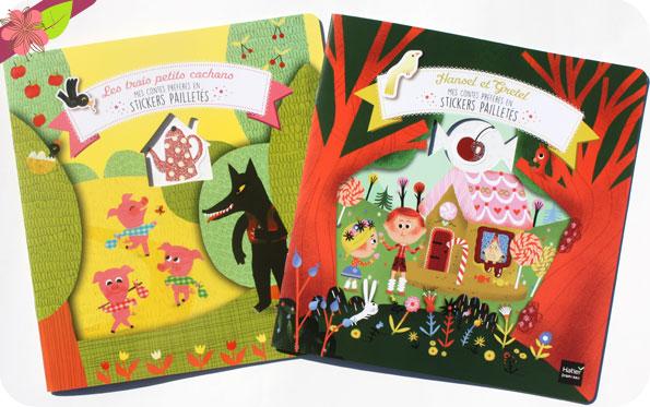 Mes contes préférés en stickers pailletés : Hansel et Gretel et Les trois petits cochons - Hatier jeunesse