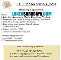 Bursa Kerja di PT. Pusaka Sunny Jaya Sidoarjo September 2020