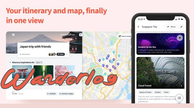 Wanderlog - Οργάνωσε και σχεδίασε τις διακοπές σου με αυτή τη φανταστική δωρεάν εφαρμογή