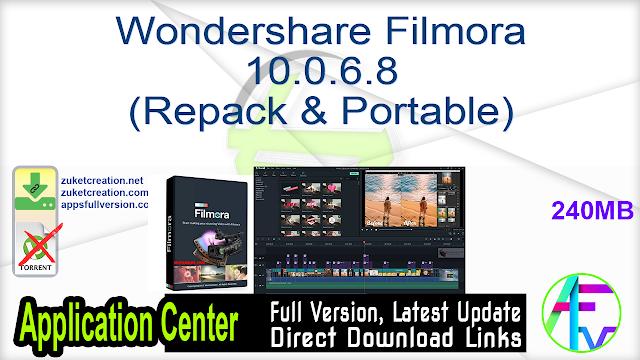 Wondershare Filmora 10.0.6.8 (Repack & Portable)
