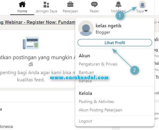Cara Mengganti Foto Profil LinkedIn di hp dan pc