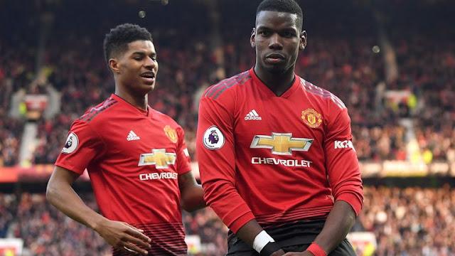 Paul Pogba and Marcus Rashford Manchester United