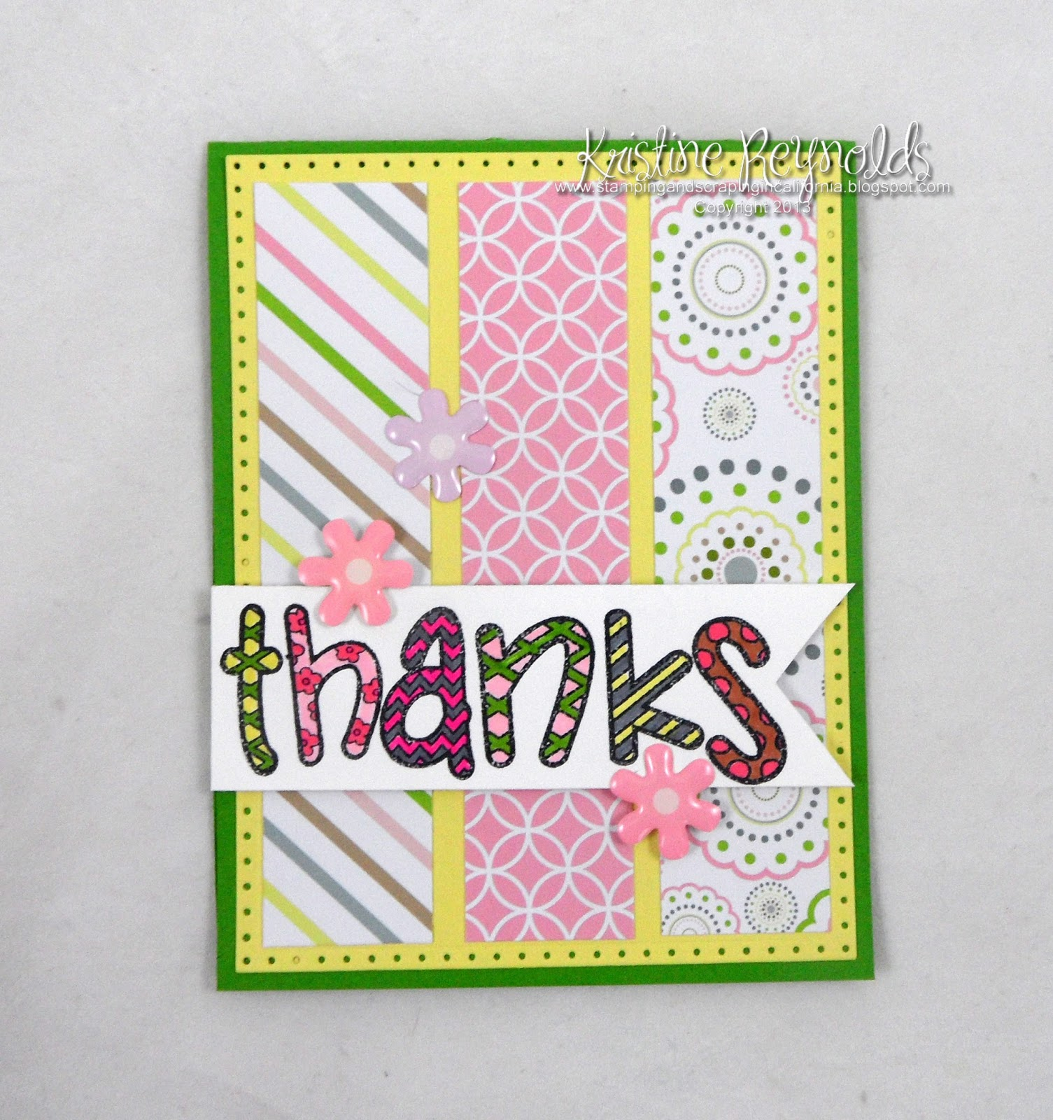 Stamping & Scrapping In California: Happy2color Thanks