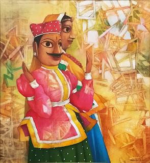 Painting by Bhaskar Rao