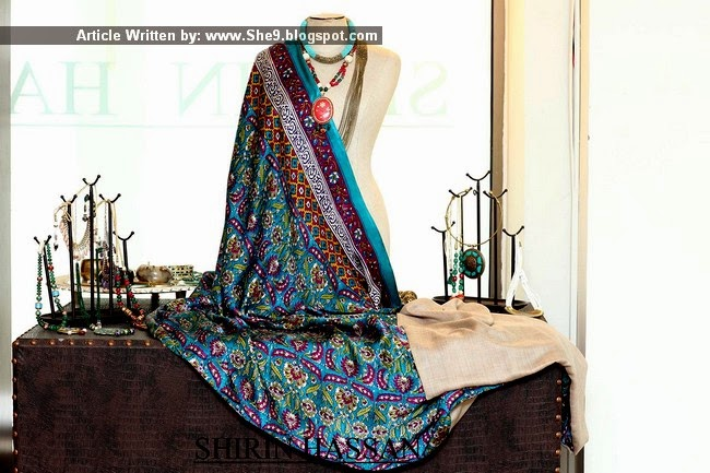 Shirin Hassan Shawls Collection 2014-2015