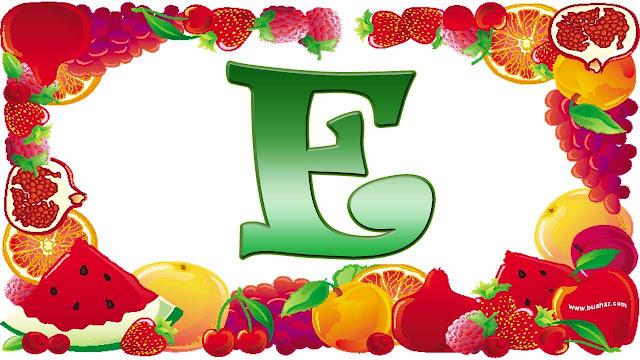 definisi pengertian buah dari huruf e