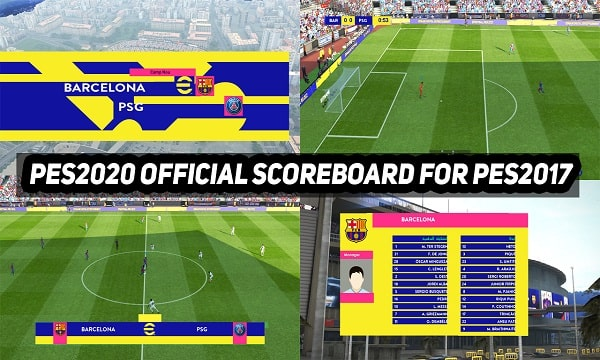 eFootball 2022 Official Scoreboard For PES 2017