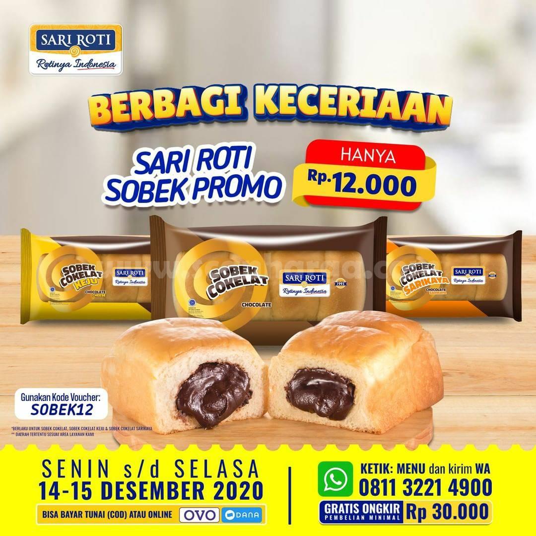 SARI ROTI Promo Sobek Day – semua varian Roti Sobek cuma Rp 12.000