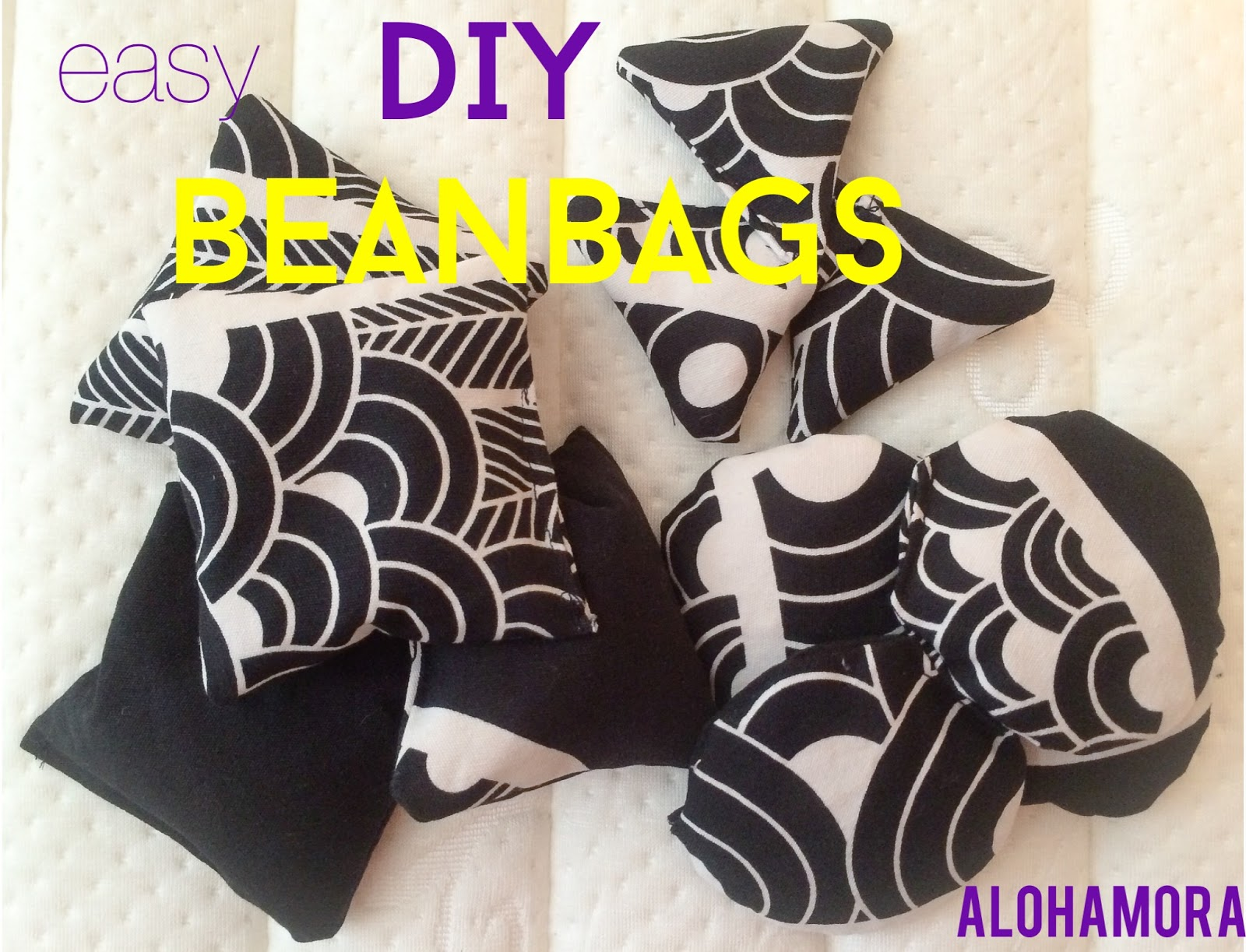 Easy DIY Homemade Beanbags tutorial with a free printable pattern for square, circle, and triangle beanbags.  Easy to make, cheap (dry beans and scrap fabric are your only costs), and the kids LOVE playing with them.  Easy sewing pattern for beginners.  Alohamora Open a Book http://www.alohamoraopenabook.blogspot.com/
