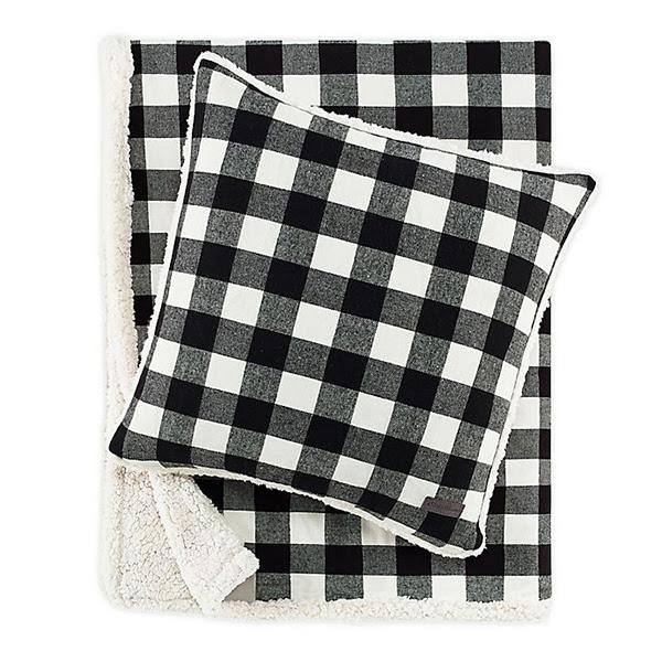 Eddie Bauer Cabin Plaid Throw Pillow and Blanket