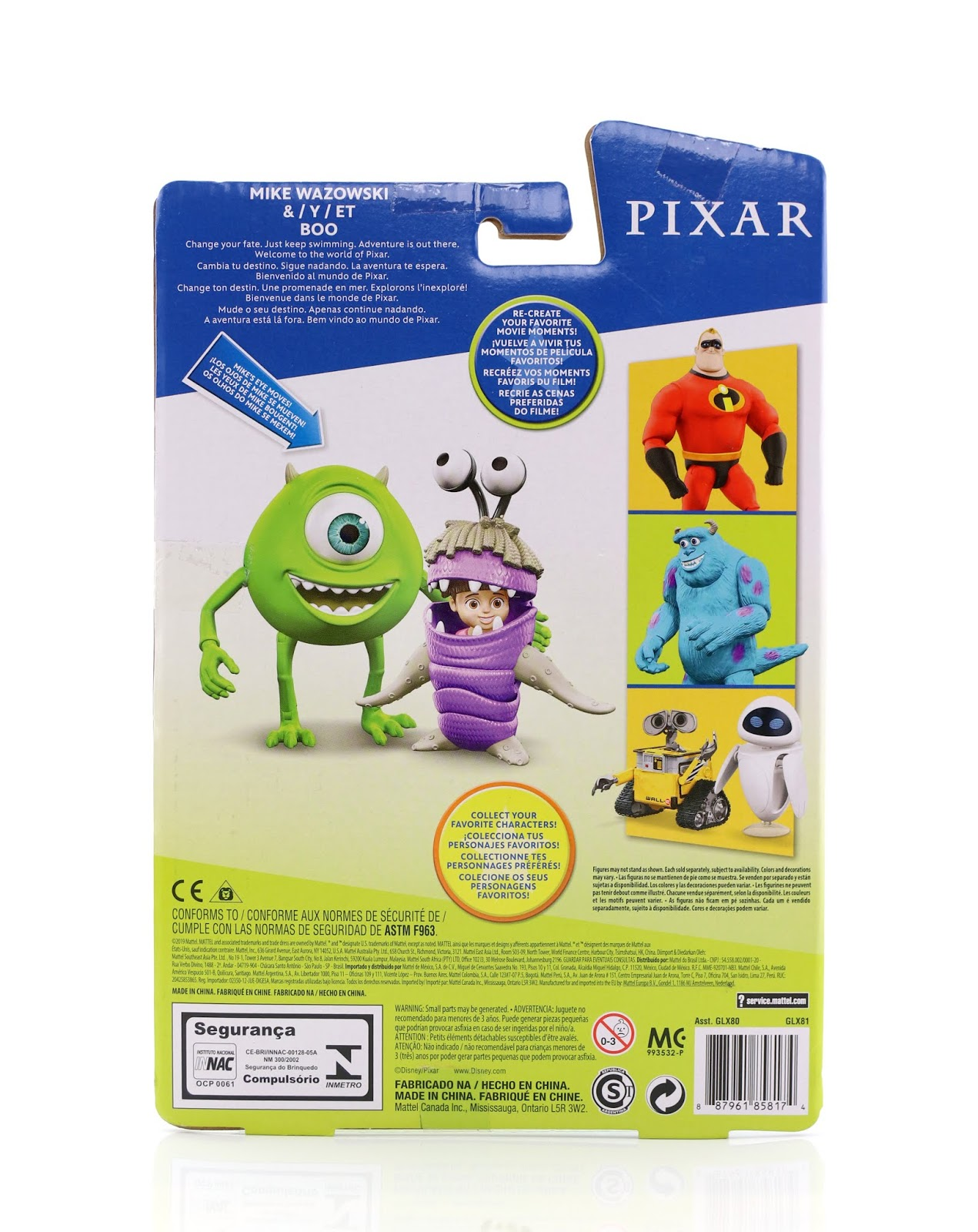 mattel pixar action figures mike wazowski boo