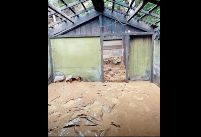 Forkopimcam Menukung Bersama Kapolsek Tinjau Titik Lokasi Longsor di Dusun Bodong Desa Lihai