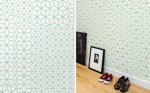 Fold Green par Kirath Ghundoo - Stickers muraux - papier peint nouvelle génération