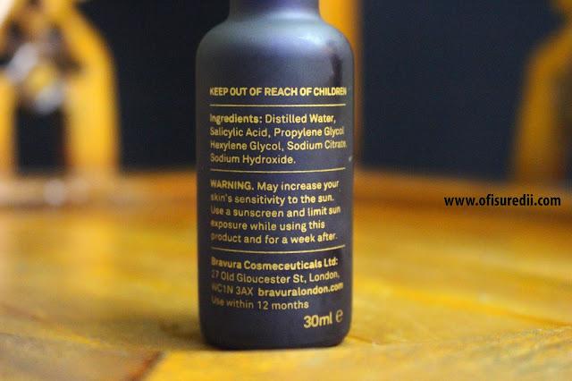 ingredients bravura salicylic acid