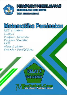 Perangkat Pembelajaran Matematika Peminatan Kurikulum 2013 Revisi Terbaru