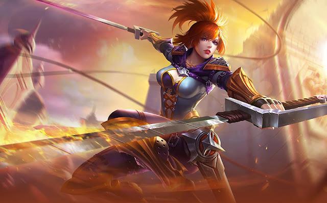 Fanny Blade Dancer Heroes Assassin of Skins Mobile Legends Wallpaper HD for PC