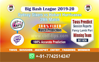 cricket prediction 100 win tips Sixer vs Hobart