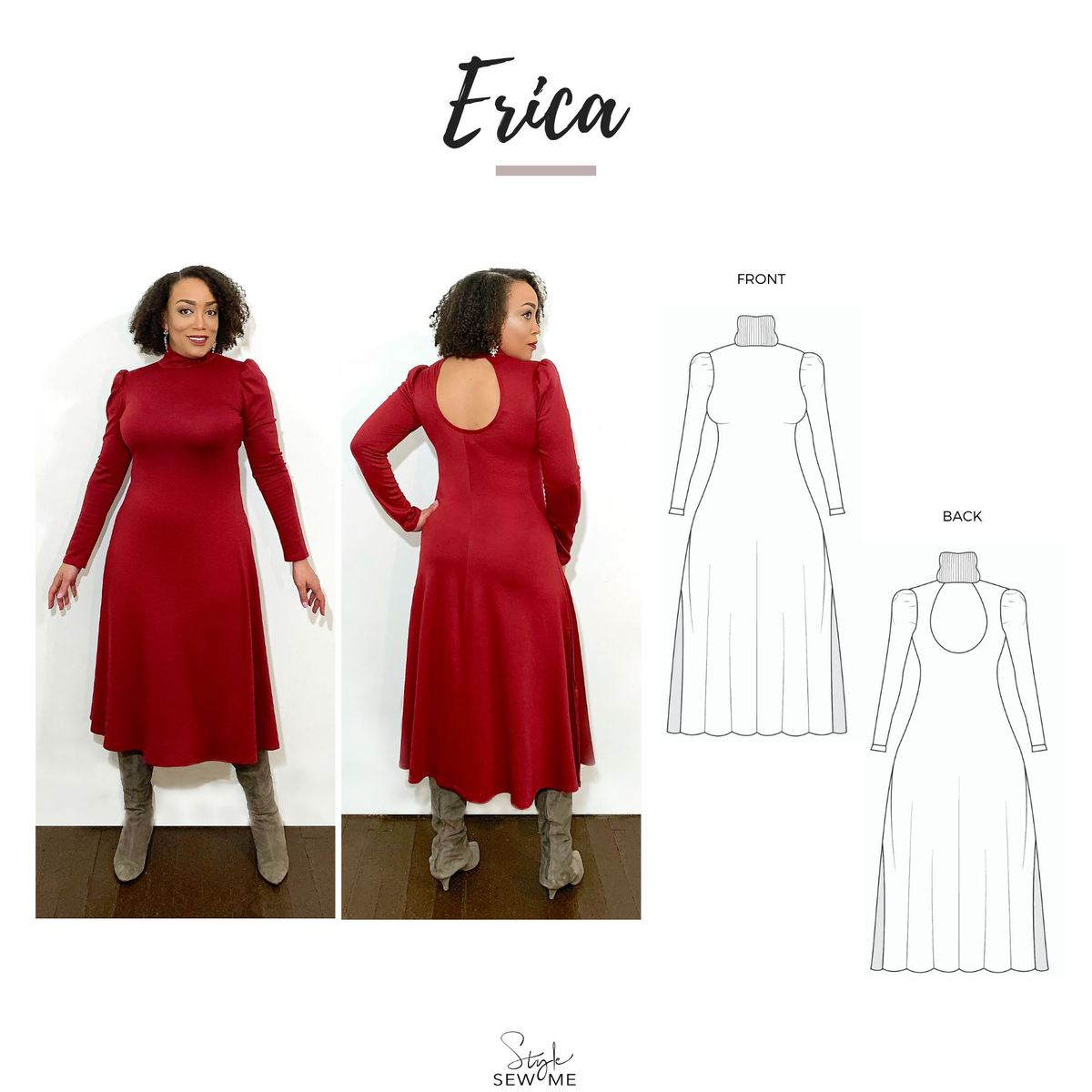 The 'Erica' Pattern X Style Sew Me Patterns -- Erica Bunker DIY Style!