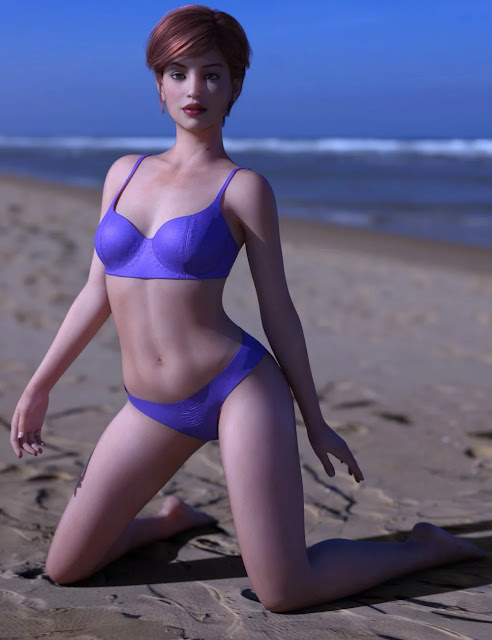 dForce Malibu Heat Outfit for Genesis 8 Female