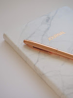 A journal or a diary is a notebook used to write personal thoughts in US English