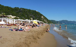 Corfú, Playa de Glyfada.