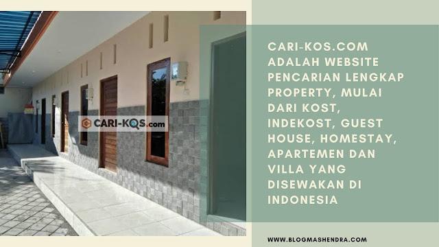 Cari-kos.com, Website Penyedia Kost Lengkap dan Berkualitas