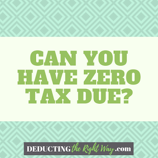 Is It Possible To Pay Zero Taxes? | www.deductingtherightway.com