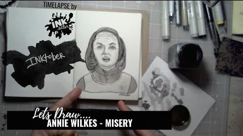 Annie Wilkes of Misery - Drawing Bad Ass Ladies of Horror - Inktober 2018
