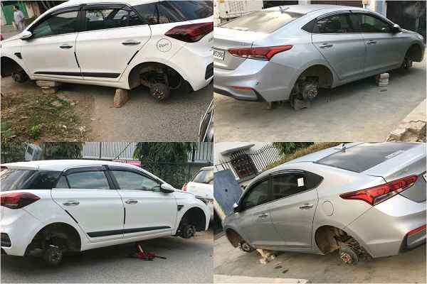 faridabad-sector-21-c-car-tire-chori-news-20-october-2019
