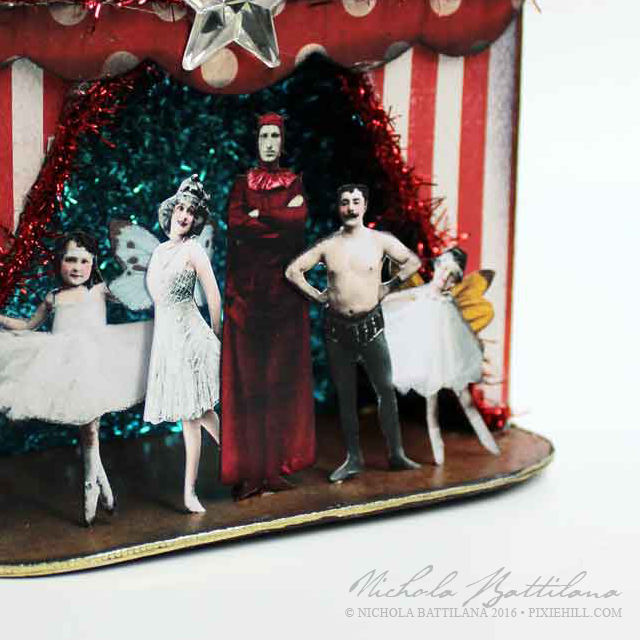 """A bunch of wierdos put on a show"" miniature stage - Nichola Battilana"
