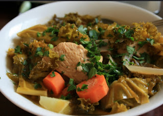 Liberian stews combine numerous meats, fish, and vegetables in one stew