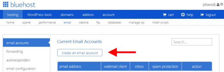 email-account-Bluehost-Webmail