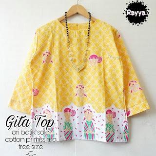 Blouse Batik Gita TOP Katun Primissima Kuning