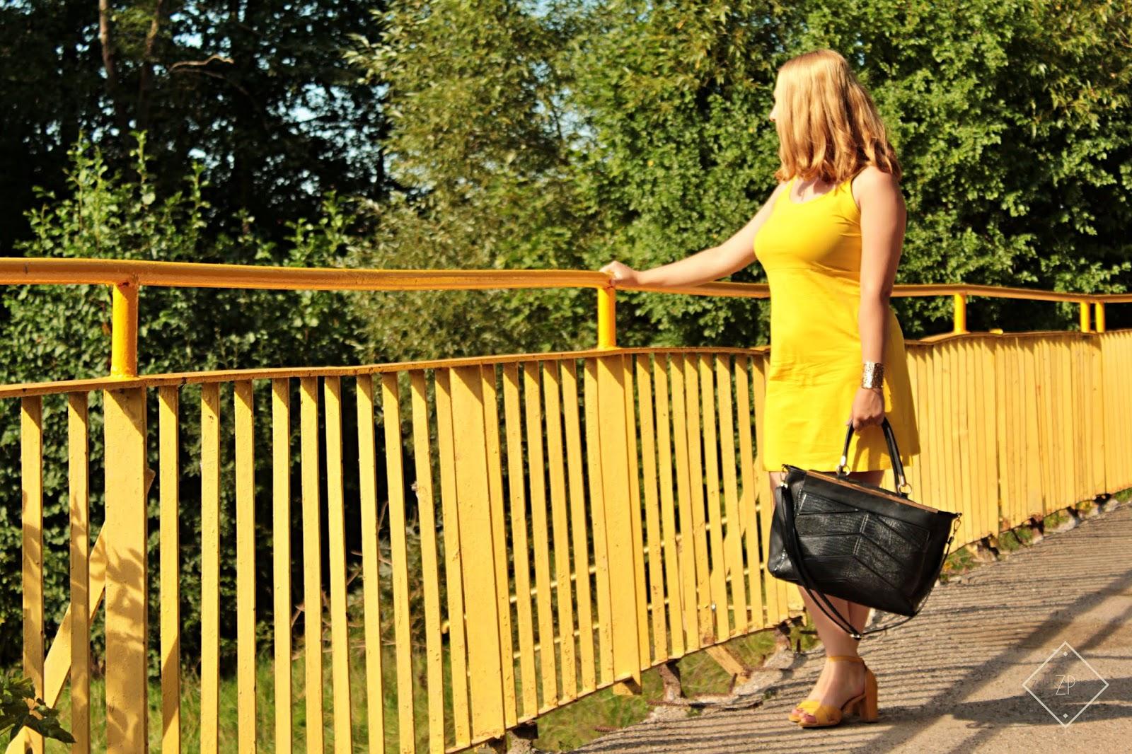 sukienka bonprix, torebka shopper