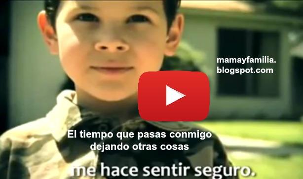 Video de reflexión para papá y mamá, hijo habla en video, ejemplo de su papá, educación por el ejemplo