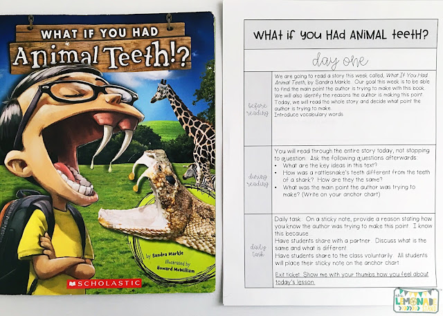 Interactive Read Aloud Lessons for First Grade | Each set of read aloud plans include anchor charts, posters, a daily lesson plan, assessing and advancing questions for partner talk and reading response, vocabulary, mentor sentences, speaking and listening checklists, vocabulary acquisition checklists, and daily and culminating task journal printables, as well as crafts and directed drawing. Get ready for an engaging interactive read aloud!