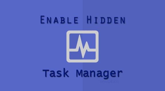 Mengembalikan Task Manager Yang Hilang