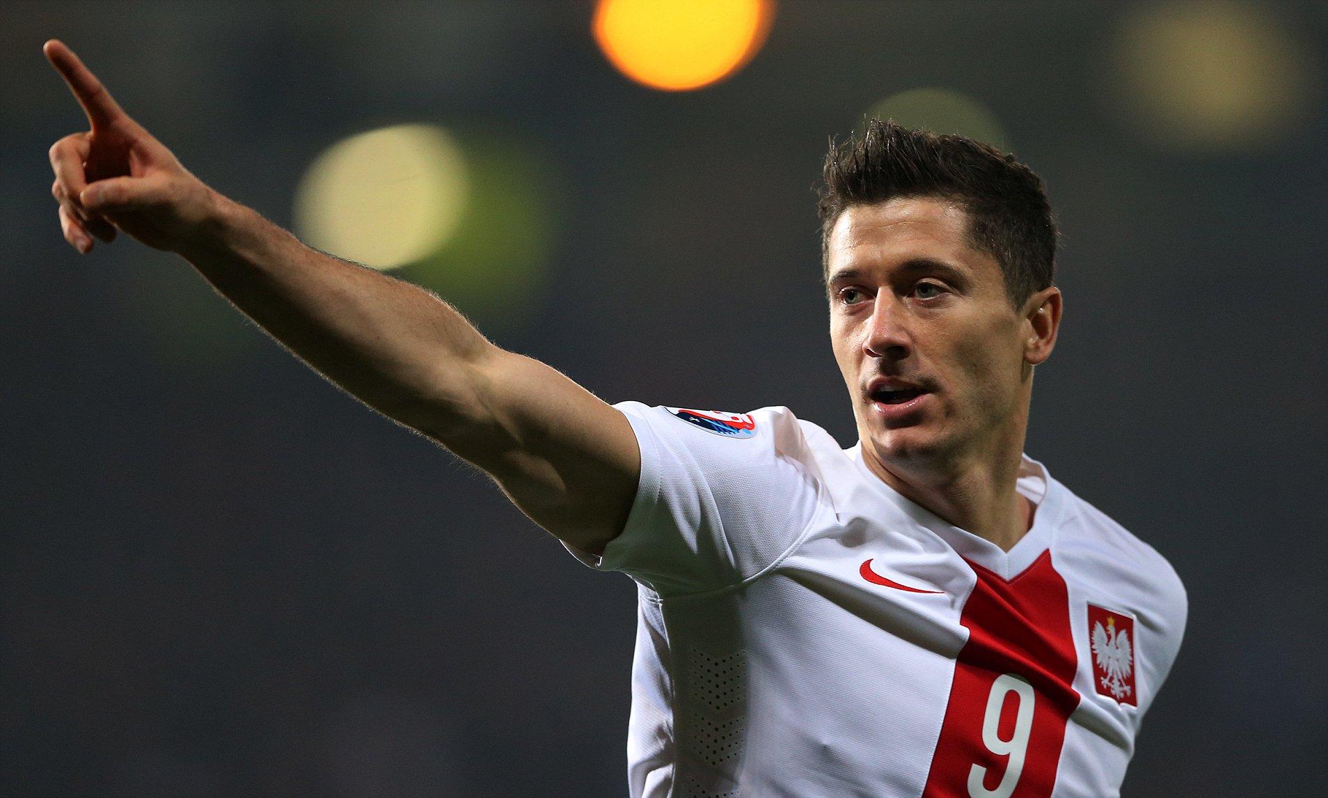 Poland's prolific number nine Robert Lewandowski