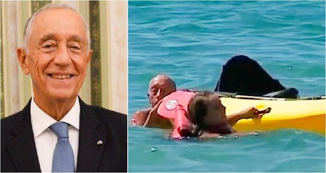 Президент Португалии помог спасти жизнь утопающим женщинам!