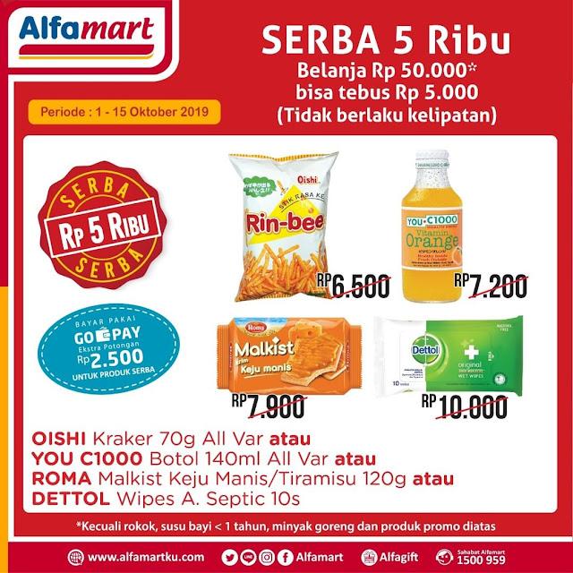 #Alfamart - #Promo Tebus Murah 5K Periode 01 - 15 Okt 2019