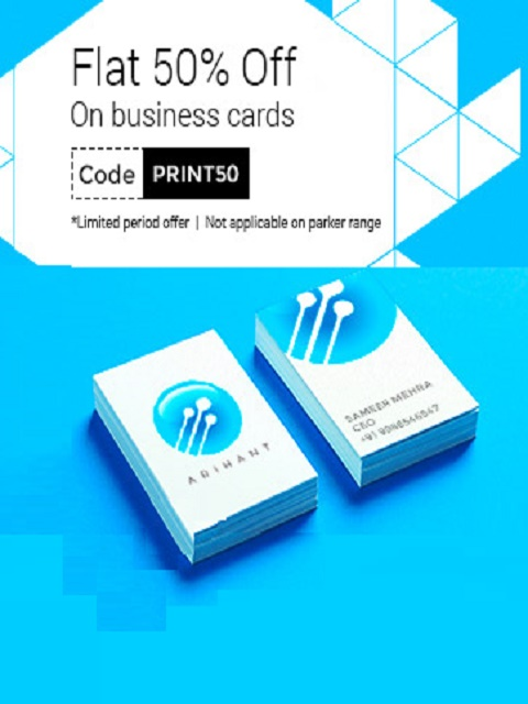 Printvenue coupons business cards mobile marketing coupons there services include printing of business cards letter heads notepads and stamps reheart Image collections