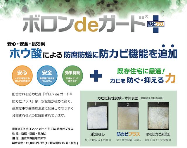 日本ボレイト ボロンdeガード工法 防カビプラス