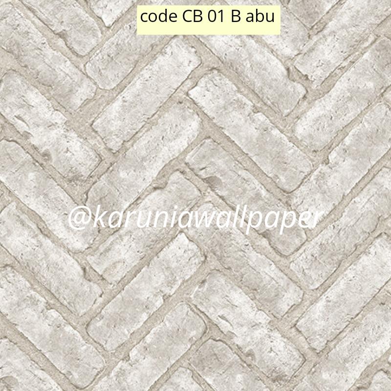 jual wallpaper motif bata abu