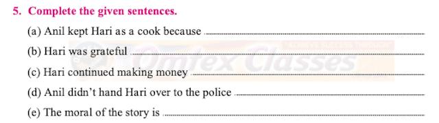 Maharashtra Board Class 10 English Solutions Unit 1.2 The Thief's Story