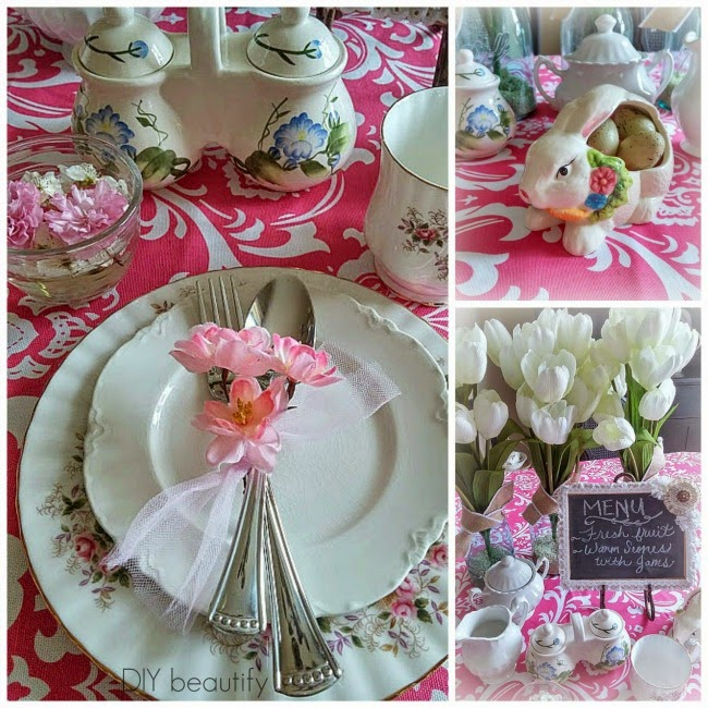 Easter Breakfast Table Decor www.diybeautify.com