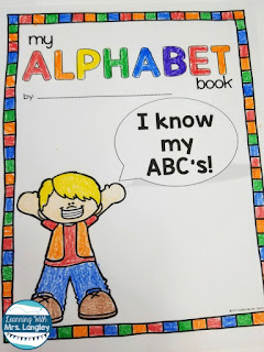 Alphabet activities for preschool and kindergarten are the best way to teach the alphabet! This hands on, crafty, alphabet book teaches each letter with a first sound craft to create a one of a kind alphabet book students can take home. Work on fine motor skills like cutting, coloring, and gluing while creating this fun book! Also use it to teach those important procedures in the classroom! #kindergartenclassroom #preschoolclassroom #kindergarten #prek