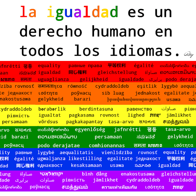 Equality is a human right (in spanish)